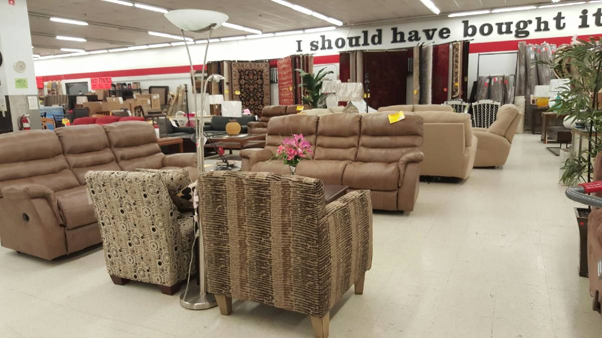 A Large Selection Of Furniture Includes Living Room, Bedroom And Kitchen  Sets Along With Name Brand Mattresses, Accent Furniture, Area/wall To Wall  Carpet ...